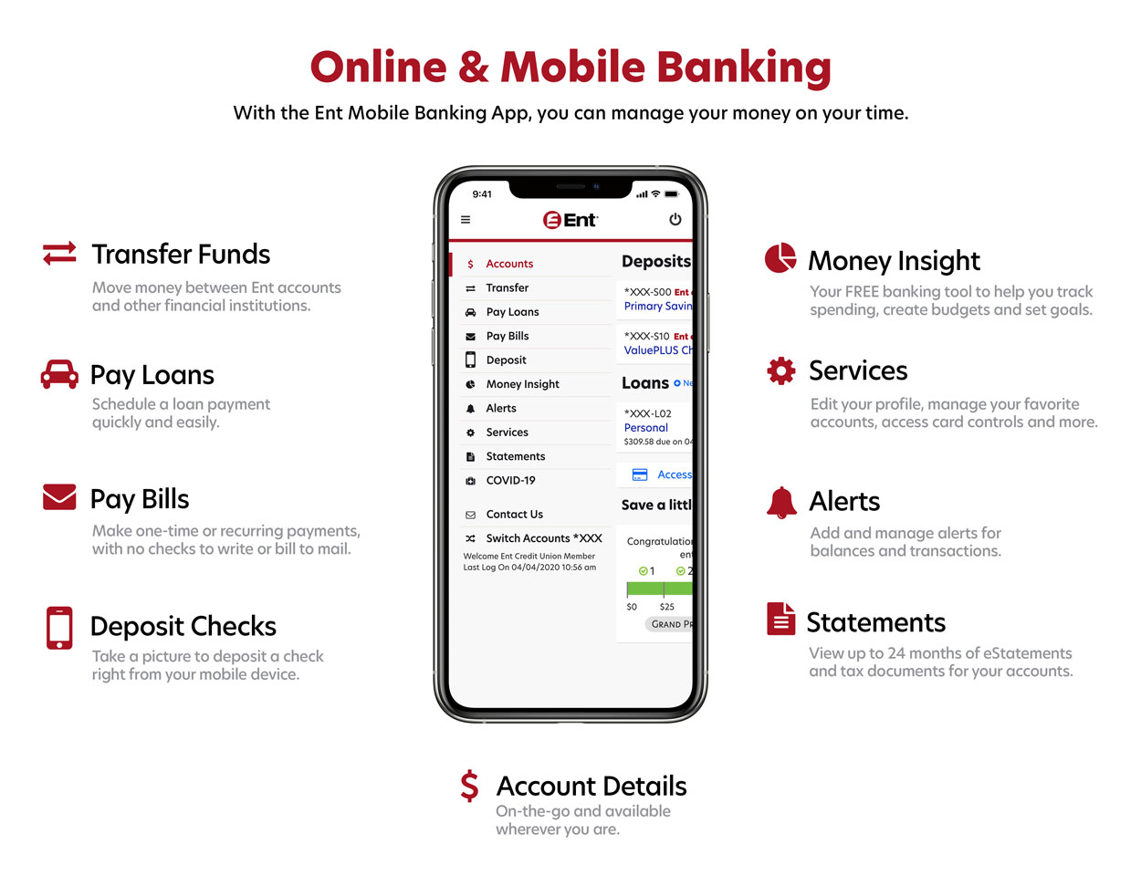 Online Banking Mobile Banking Services And Apps Ent Credit Union