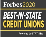 Forbes best of state credit union badge 2020