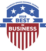Award: Colorado Springs Business Journal - Best in Business 2018