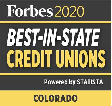 Forbes 2019 badge - best-in-state credit unions.  Powered by Statista.