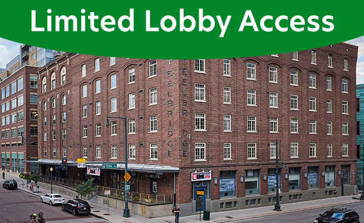 LoDo Service Center: Limited Lobby Access