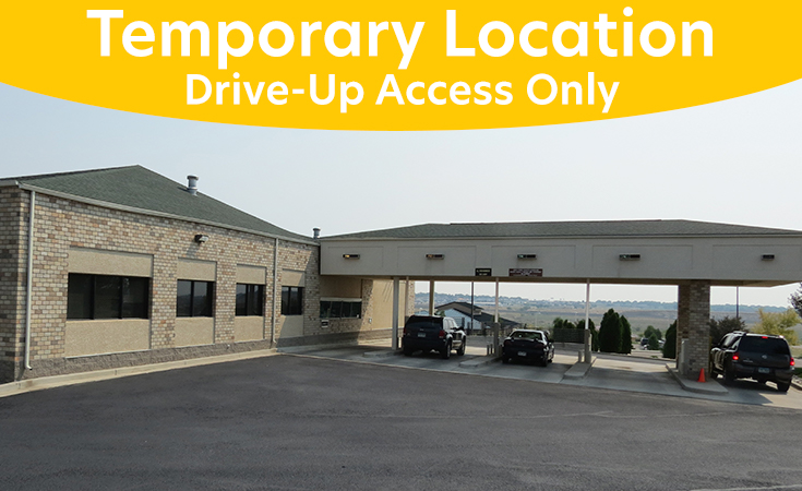 Temporary Location Spaulding Drive-Up Access Only